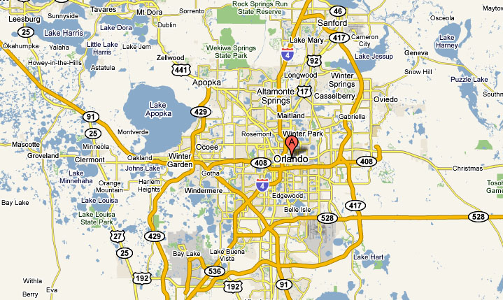 Orlando Limo Service and Party Bus Service Area